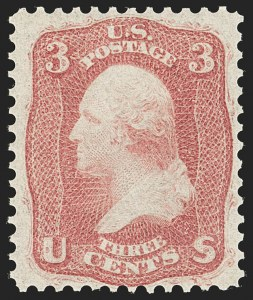 Sale Number 1192, Lot Number 154, 1861-66 Issue (Scott 56-78)3c Brown Rose, First Design (56), 3c Brown Rose, First Design (56)