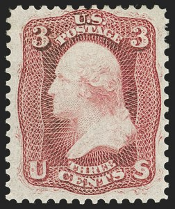 Sale Number 1192, Lot Number 155, 1861-66 Issue (Scott 56-78)3c Dim Deep Red, First Design (56 var), 3c Dim Deep Red, First Design (56 var)