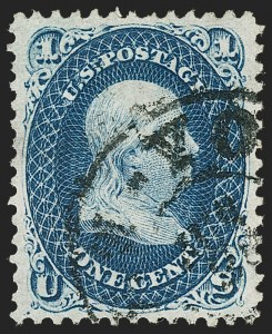 Sale Number 1192, Lot Number 157, 1861-66 Issue (Scott 56-78)1c Dark Blue (63b), 1c Dark Blue (63b)
