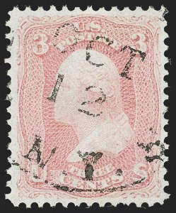 Sale Number 1192, Lot Number 159, 1861-66 Issue (Scott 56-78)3c Pigeon Blood Pink (64a), 3c Pigeon Blood Pink (64a)