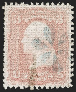 Sale Number 1192, Lot Number 174, 1867-68 Grilled Issue (Scott 79-101)3c Rose, A. Grill (79), 3c Rose, A. Grill (79)