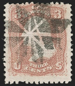 Sale Number 1192, Lot Number 182, 1867-68 Grilled Issue (Scott 79-101)3c Rose, Z. Grill (85C), 3c Rose, Z. Grill (85C)