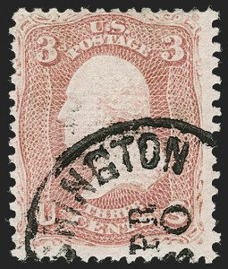Sale Number 1192, Lot Number 183, 1867-68 Grilled Issue (Scott 79-101)3c Rose, Z. Grill (85C), 3c Rose, Z. Grill (85C)