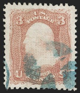 Sale Number 1192, Lot Number 186, 1867-68 Grilled Issue (Scott 79-101)3c Rose, E. Grill (88), 3c Rose, E. Grill (88)