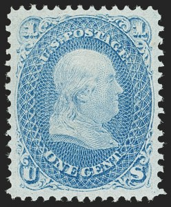Sale Number 1192, Lot Number 188, 1867-68 Grilled Issue (Scott 79-101)1c Blue, F. Grill (92), 1c Blue, F. Grill (92)
