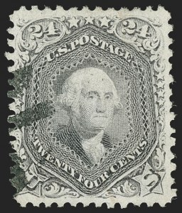 Sale Number 1192, Lot Number 192, 1867-68 Grilled Issue (Scott 79-101)24c Gray Lilac, F. Grill (99), 24c Gray Lilac, F. Grill (99)