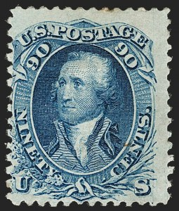Sale Number 1192, Lot Number 194, 1867-68 Grilled Issue (Scott 79-101)90c Blue, F. Grill (101), 90c Blue, F. Grill (101)