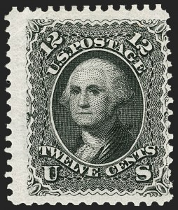 Sale Number 1192, Lot Number 204, 1875 Re-Issue of 1861-66 Issue (Scott 102-111)12c Black, Re-Issue (107), 12c Black, Re-Issue (107)