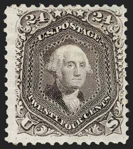 Sale Number 1192, Lot Number 205, 1875 Re-Issue of 1861-66 Issue (Scott 102-111)24c Deep Violet, Re-Issue (109), 24c Deep Violet, Re-Issue (109)