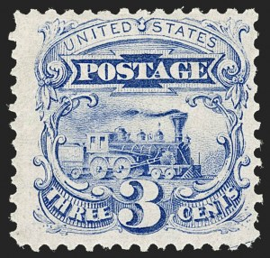 Sale Number 1192, Lot Number 226, 1875 Re-Issue of 1869 Pictorial Issue (Scott 123-133a)3c Blue, Re-Issue (125), 3c Blue, Re-Issue (125)