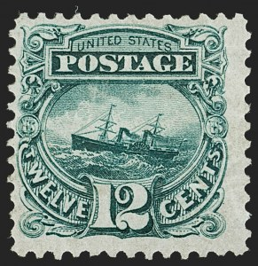 Sale Number 1192, Lot Number 230, 1875 Re-Issue of 1869 Pictorial Issue (Scott 123-133a)12c Green, Re-Issue (128), 12c Green, Re-Issue (128)