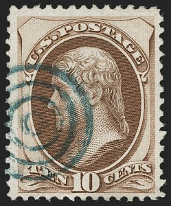 Sale Number 1192, Lot Number 240, 1870-71 National Bank Note Co. Issues (Scott 134-155)10c Brown, H. Grill (139), 10c Brown, H. Grill (139)