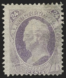 Sale Number 1192, Lot Number 247, 1870-71 National Bank Note Co. Issues (Scott 134-155)24c Purple, H. Grill (142), 24c Purple, H. Grill (142)