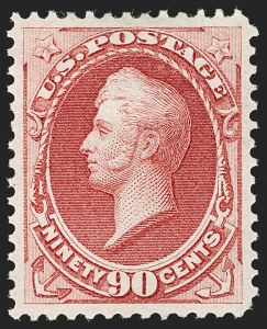 Sale Number 1192, Lot Number 252, 1870-71 National Bank Note Co. Issues (Scott 134-155)90c Carmine (155), 90c Carmine (155)