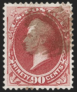 Sale Number 1192, Lot Number 254, 1870-71 National Bank Note Co. Issues (Scott 134-155)90c Carmine (155), 90c Carmine (155)