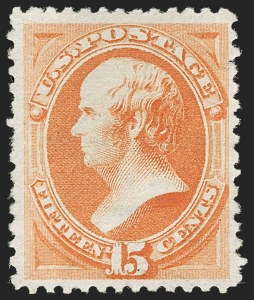 Sale Number 1192, Lot Number 270, 1879-88 American Bank Note Co. Issues (Scott 182-218)15c Orange, Special Printing (199), 15c Orange, Special Printing (199)