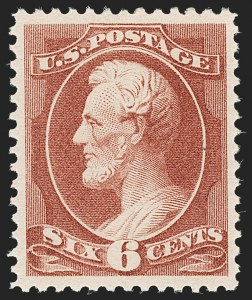 Sale Number 1192, Lot Number 271, 1879-88 American Bank Note Co. Issues (Scott 182-218)6c Deep Brown Red (208a), 6c Deep Brown Red (208a)