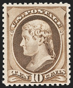 Sale Number 1192, Lot Number 273, 1879-88 American Bank Note Co. Issues (Scott 182-218)10c Brown (209), 10c Brown (209)