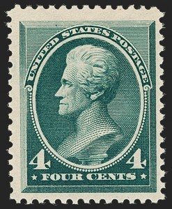 Sale Number 1192, Lot Number 278, 1879-88 American Bank Note Co. Issues (Scott 182-218)4c Blue Green (211), 4c Blue Green (211)