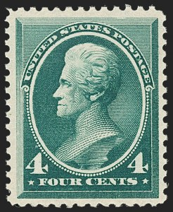 Sale Number 1192, Lot Number 279, 1879-88 American Bank Note Co. Issues (Scott 182-218)4c Blue Green (211), 4c Blue Green (211)
