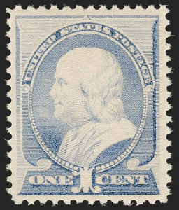 Sale Number 1192, Lot Number 280, 1879-88 American Bank Note Co. Issues (Scott 182-218)1c Ultramarine (212), 1c Ultramarine (212)