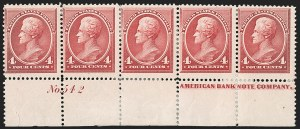 Sale Number 1192, Lot Number 281, 1879-88 American Bank Note Co. Issues (Scott 182-218)4c Carmine (215), 4c Carmine (215)