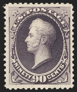 Sale Number 1192, Lot Number 287, 1879-88 American Bank Note Co. Issues (Scott 182-218)90c Purple (218), 90c Purple (218)