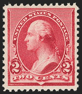 "Sale Number 1192, Lot Number 291, 1890-93 Issue (Scott 219-229)2c Carmine, Cap on Both ""2""'s (220c), 2c Carmine, Cap on Both ""2""'s (220c)"