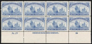 Sale Number 1192, Lot Number 297, 1893 Columbian Issue (Scott 230-245)4c Columbian (233), 4c Columbian (233)