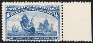 Sale Number 1192, Lot Number 298, 1893 Columbian Issue (Scott 230-245)4c Columbian, Error of Color (233a). Mint N.H, 4c Columbian, Error of Color (233a). Mint N.H