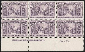 Sale Number 1192, Lot Number 300, 1893 Columbian Issue (Scott 230-245)6c Columbian (235), 6c Columbian (235)