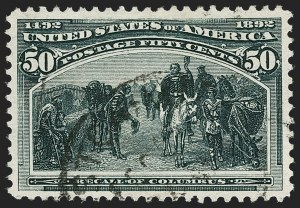 Sale Number 1192, Lot Number 304, 1893 Columbian Issue (Scott 230-245)50c Columbian (240), 50c Columbian (240)