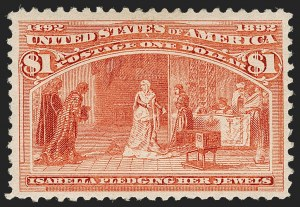 Sale Number 1192, Lot Number 306, 1893 Columbian Issue (Scott 230-245)$1.00 Columbian (241), $1.00 Columbian (241)