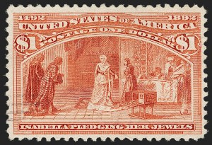 Sale Number 1192, Lot Number 308, 1893 Columbian Issue (Scott 230-245)$1.00 Columbian (241), $1.00 Columbian (241)