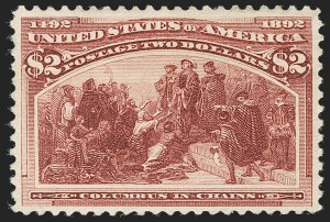 Sale Number 1192, Lot Number 310, 1893 Columbian Issue (Scott 230-245)$2.00 Columbian (242), $2.00 Columbian (242)