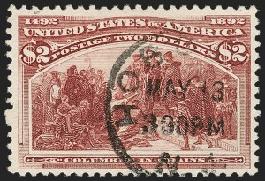 Sale Number 1192, Lot Number 311, 1893 Columbian Issue (Scott 230-245)$2.00 Columbian (242), $2.00 Columbian (242)