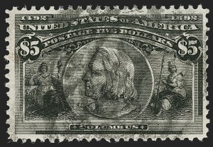 Sale Number 1192, Lot Number 326, 1893 Columbian Issue (Scott 230-245)$5.00 Columbian (245), $5.00 Columbian (245)