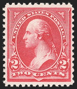 Sale Number 1192, Lot Number 330, 1894-98 Bureau Issues (Scott 246-284)2c Carmine, Ty. II (251), 2c Carmine, Ty. II (251)