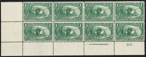 Sale Number 1192, Lot Number 350, 1898 Trans-Mississippi Issue (Scott 285-293)1c Trans-Mississippi (285), 1c Trans-Mississippi (285)