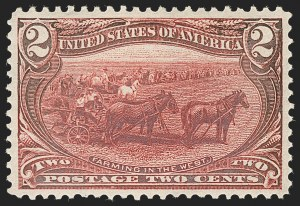 Sale Number 1192, Lot Number 351, 1898 Trans-Mississippi Issue (Scott 285-293)2c Trans-Mississippi (286), 2c Trans-Mississippi (286)