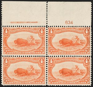Sale Number 1192, Lot Number 352, 1898 Trans-Mississippi Issue (Scott 285-293)4c Trans-Mississippi (287), 4c Trans-Mississippi (287)