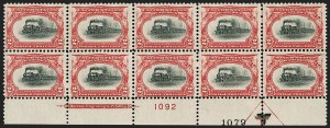 Sale Number 1192, Lot Number 372, 1901 Pan-American Issue (Scott 294-299)1c, 2c Pan-American (294-295), 1c, 2c Pan-American (294-295)