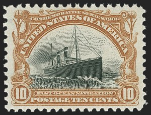 Sale Number 1192, Lot Number 377, 1901 Pan-American Issue (Scott 294-299)10c Pan-American (299), 10c Pan-American (299)