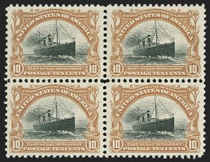 Sale Number 1192, Lot Number 379, 1901 Pan-American Issue (Scott 294-299)10c Pan-American (299), 10c Pan-American (299)