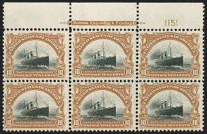 Sale Number 1192, Lot Number 380, 1901 Pan-American Issue (Scott 294-299)10c Pan-American (299), 10c Pan-American (299)