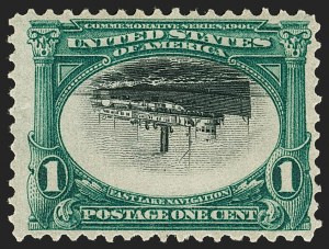 Sale Number 1192, Lot Number 381, 1901 Pan-American Issue, Inverts (Scott 294a, 295a, 296a)1c Pan-American, Center Inverted (294a), 1c Pan-American, Center Inverted (294a)