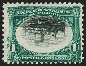 Sale Number 1192, Lot Number 383, 1901 Pan-American Issue, Inverts (Scott 294a, 295a, 296a)1c Pan-American, Center Inverted (294a), 1c Pan-American, Center Inverted (294a)