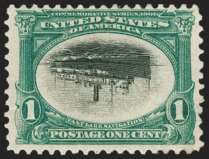 Sale Number 1192, Lot Number 384, 1901 Pan-American Issue, Inverts (Scott 294a, 295a, 296a)1c Pan-American, Center Inverted (294a), 1c Pan-American, Center Inverted (294a)