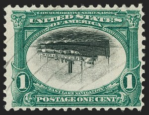 Sale Number 1192, Lot Number 386, 1901 Pan-American Issue, Inverts (Scott 294a, 295a, 296a)1c Pan-American, Center Inverted (294a), 1c Pan-American, Center Inverted (294a)