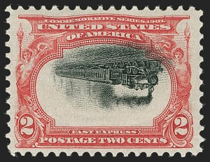 Sale Number 1192, Lot Number 387, 1901 Pan-American Issue, Inverts (Scott 294a, 295a, 296a)2c Pan-American, Center Inverted (295a), 2c Pan-American, Center Inverted (295a)